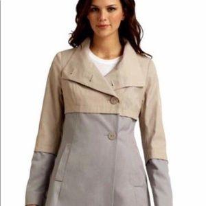Tahari Anya grey colorblock coat 12(L)